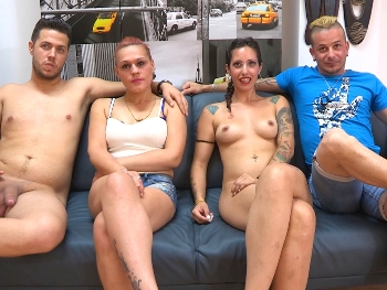 First swinging sex in their whole live and such a treat: Alex and Lara fuck with Nata Lee and Julian Belmonte
